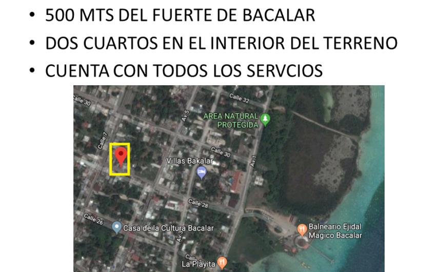 TERRENO EN BACALAR 440M2