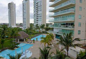 Departamento de 2 recamaras en Puerto Cancún con Vista al mar