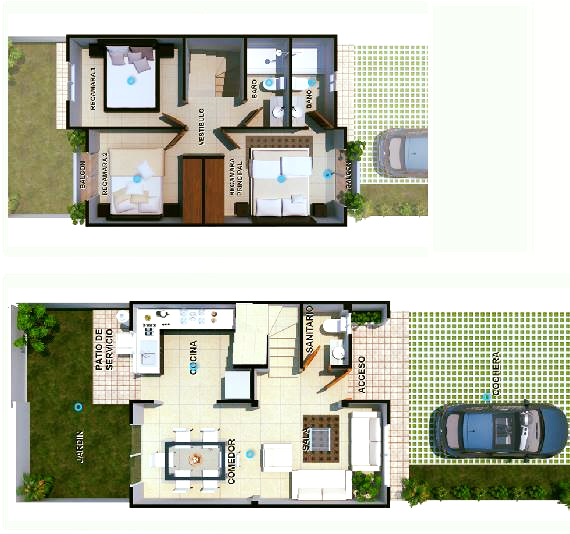 ultimas casas en cancun de 3 recamaras en venta cerca walmart santa fe plano.png